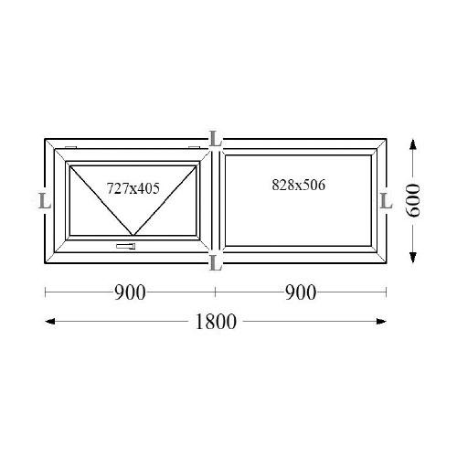 Aluminium Top Hung Windows 180x60