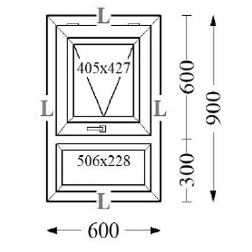 Aluminium Top Hung Windows 60x90