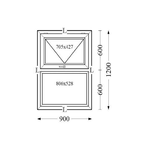 Aluminium Top Hung Window 90x120