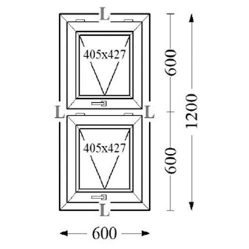 Aluminium Top Hung Windows TH20 60x120