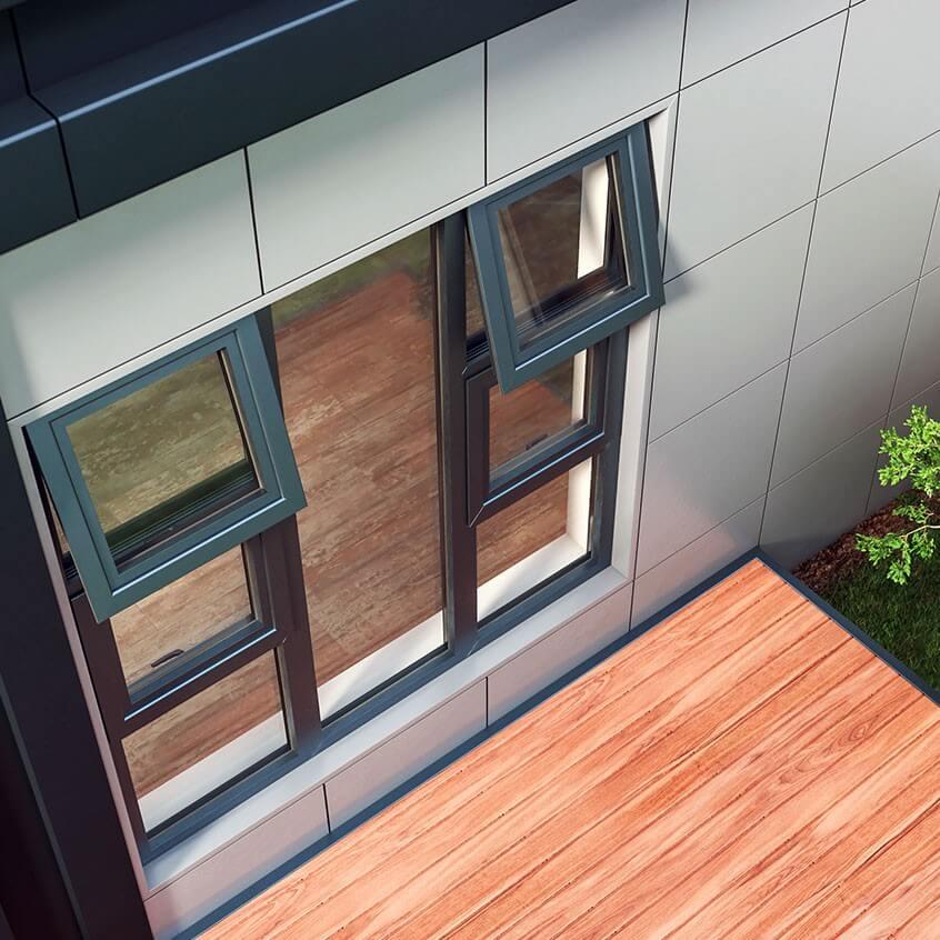 Aluminium Top Hung Windows models