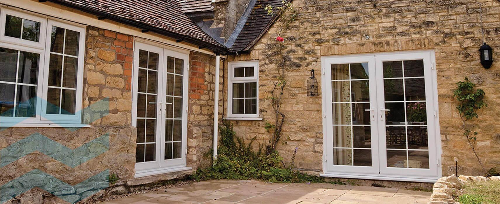 uPVC Cottage Pane Door Desing
