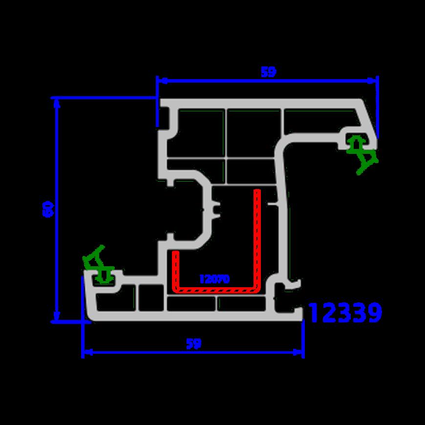 upvc window everest max technical drawings 15