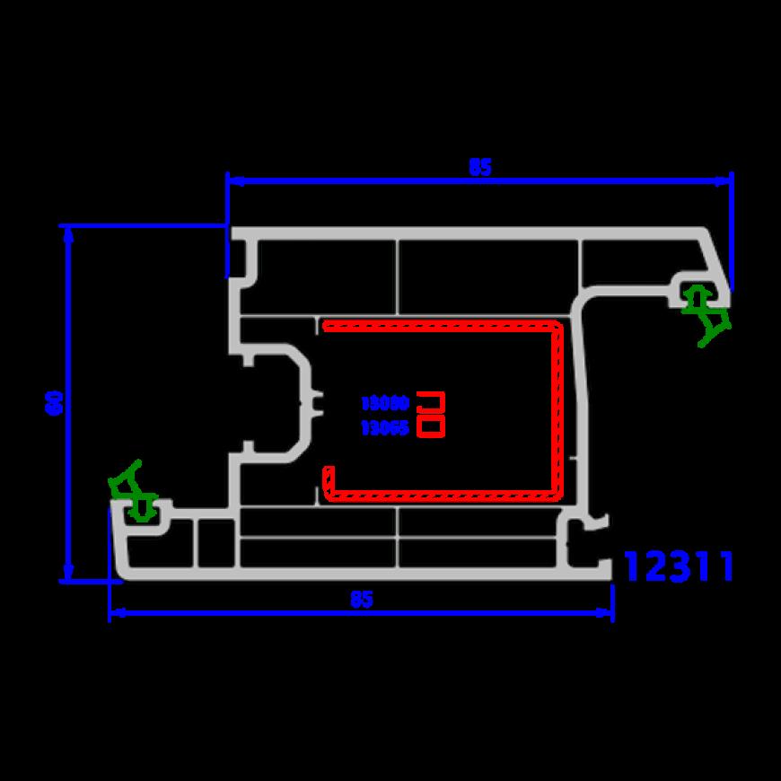 upvc window everest max technical drawings 3