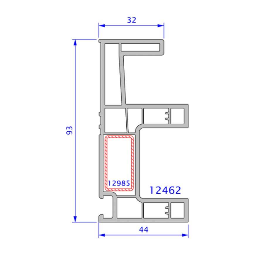 upvc window legand technical drawing 2