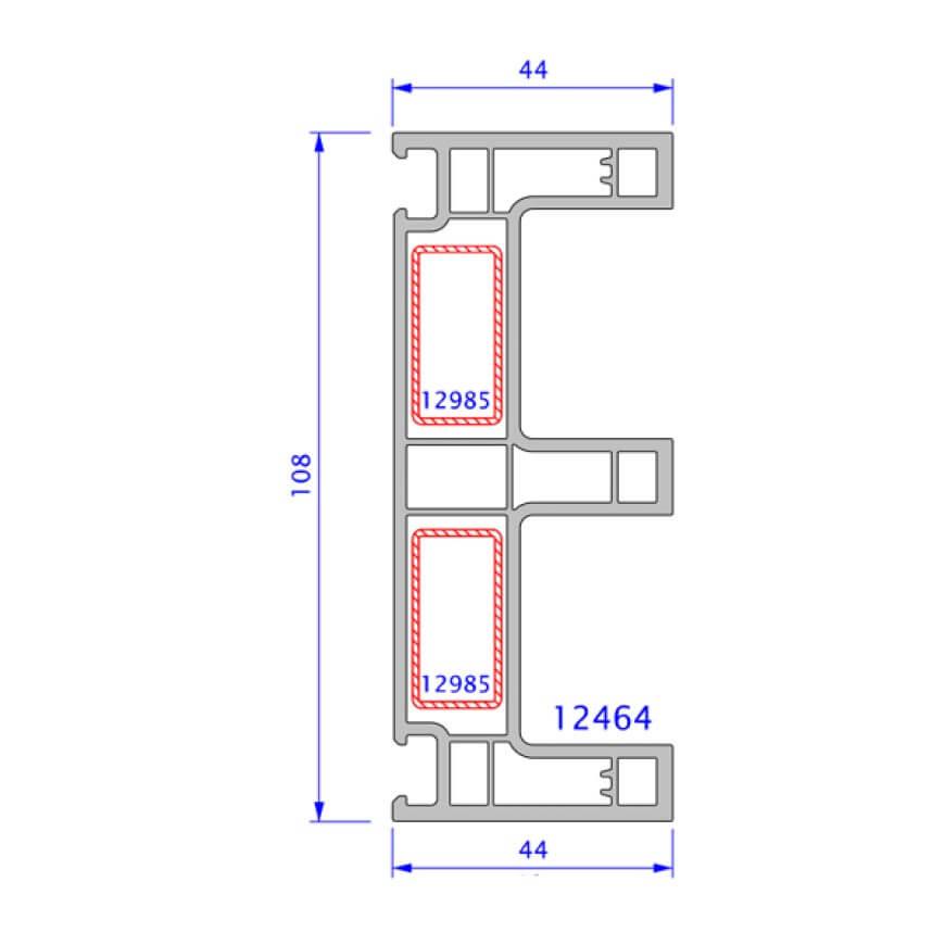 upvc window legand technical drawing 5