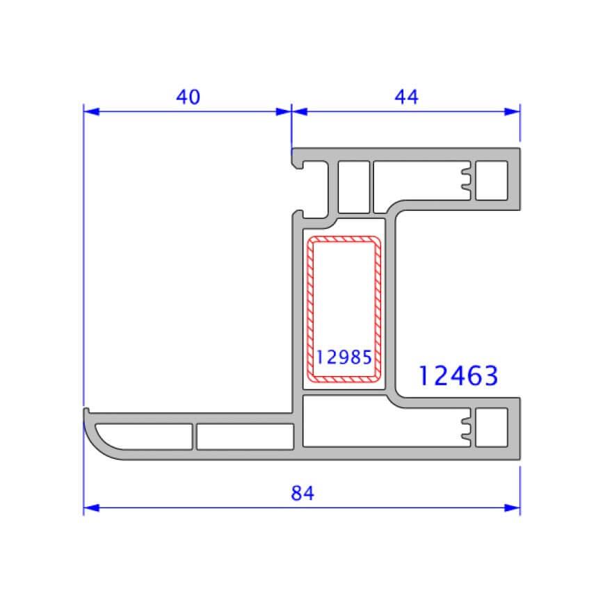 upvc window legand technical drawing
