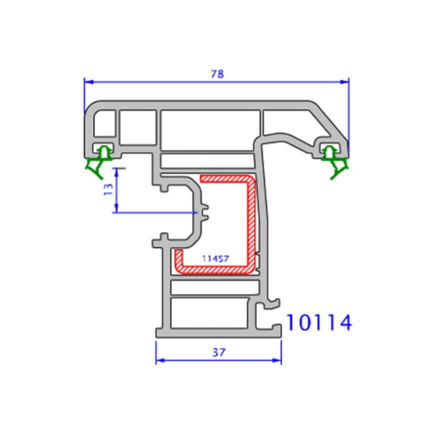 upvc window zendow deluxe technical drawings 11