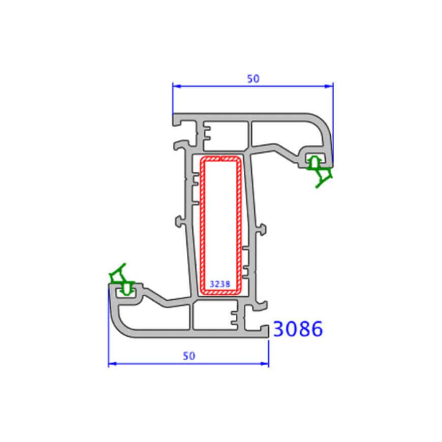 upvc window zendow deluxe technical drawings 3