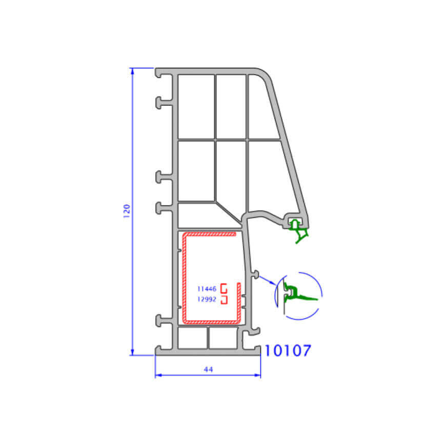 upvc window zendow deluxe technical drawings 4